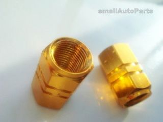 GOLD ALUMiNUM Tire/Wheel stem Valve CAPS for Motorcycle Bike Scooter