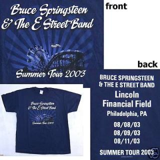 bruce springsteen philly shows 2003 tour shirt xl new  14