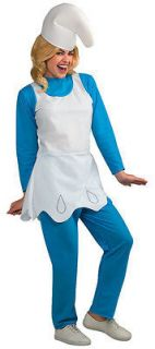 NEW Womens Costume Smurfette Top, Pants & Hat Standard Sz 12 ON