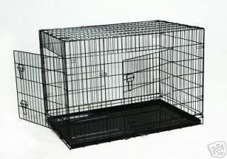 42 pet folding dog cat crate cage kennel w abs