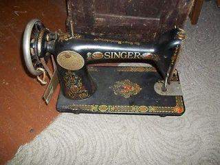 antique red eye singer sewing machine  49