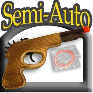 rubber band gun semi auto wooden pistol wood guns toy