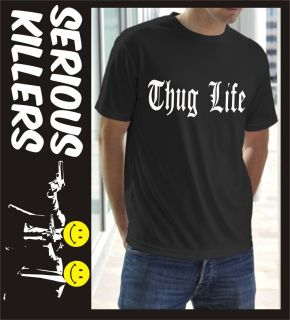 Thug life mens T shirt birthday gift idea F14 Hip Hop gangster 2 Pac