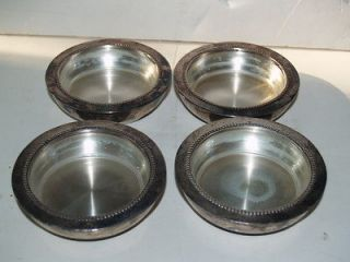 Antique W&S Blackinton Silverplate and Clear Glass Ashtray Number 50