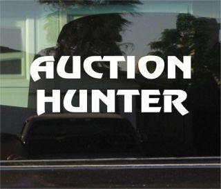 auction hunter vinyl decal sticker more options vinyl color time