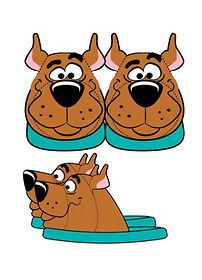 Scooby Doo Plush Slippers (2012)   New   Apparel & Accessories