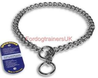 herm sprenger chrome choke chain dog collar 4mm more options size time