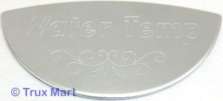 emblem water temperature stainless block letters for 359 379 Peterbilt