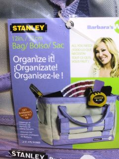 STANLEY Barbaras Way 12 Lavender & Grey Tool Bag, Roll up Organizer