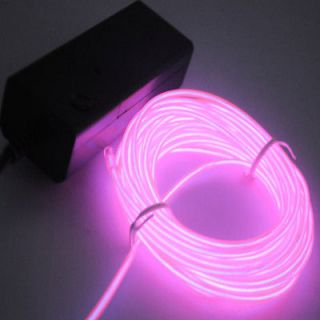 5M Flexible Neon Light led EL Wire Rope Tube Car Dance Party
