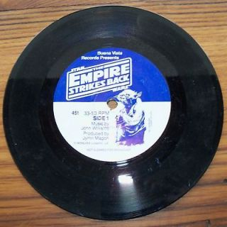 1980 STAR WARS THE EMPIRE STRIKES BACK BOOK 45 RECORD LP Vinyl