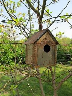rustic wrought iron metal hanging birdhouse garden decor time left