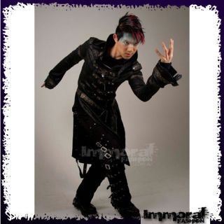 PUNK RAVE STEAM PUNK MILITARY TRENCH COAT   PUNK/GOTHIC/BLACK/JACKET