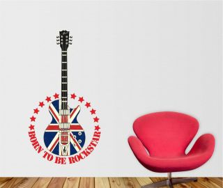 Music Rockstar Guitar Wall Sticker art vinyl, Decal, Graphic tr31