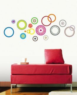 KR 0018 COLOR CIRCLE PEEL&STICK DECOR DECO WALL STICKER BRINGBRINGSHOP