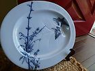 ANTIQUE ENGLISH CHINOISE ORIENTAL FLOW BLUE MEAT PLATTER STAFFORDSHIRE