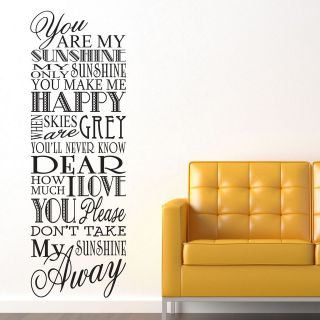 you are my sunshine wall art in Decals, Stickers & Vinyl Art