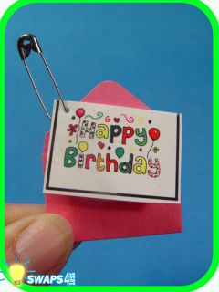 HAPPY BIRTHDAY Card Girl Scout 100th Birthday Scout SWAPS Girl Kit