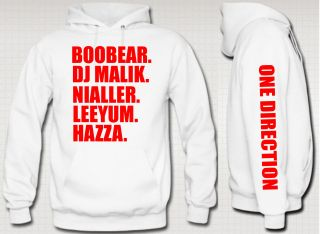 love one direction HOODIE niall zayn liam louis harry boys nick name