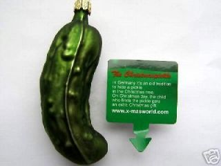 lg german glass good luck christmas pickle ornament one day
