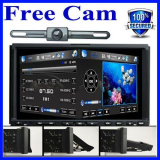 Touchscreen Car CD DVD Player GPS Navigation Radio Ipod BT+Free Camera