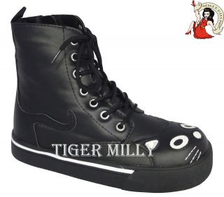 tuk goth kitty combat army boots emo
