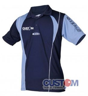 Tsoma High Quality Breathable Dry Fit Custom Table Tennis Shirt Navy