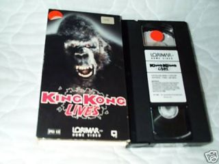 king kong lives vhs linda hamilton gorilla ape sequel time