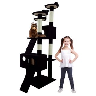 New Cat Tree 69 Tall Level Condo Furniture Scratching Post Pet House