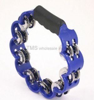newly listed blue tambourine hand held percussion tamborine one day