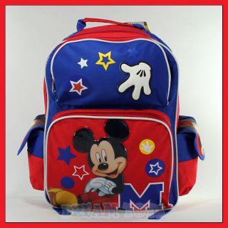 Disney Mickey Mouse Stars 16 Backpack   Book Bag School Boys
