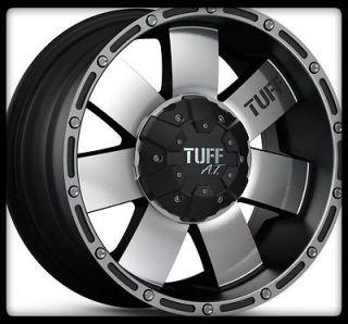 TUFF T02 BLACK RIMS W/ 265/70/16 NITTO TERRA GRAPPLER A/T WHEELS TIRES