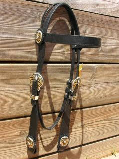 tex tan texas ranger black harness leather headstall time left