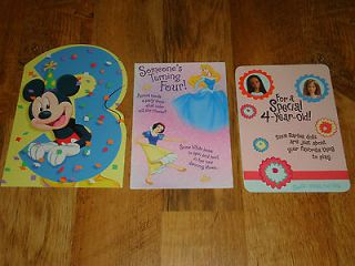 lot 3 greeting hallmark cards happy birthday disney mickey princess