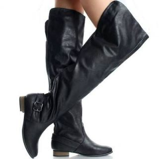 Newly listed Black Thigh High Boots Riding Over The Knee Motorcycle