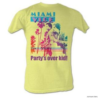 Licensed Miami Vice Partys Over Kid Adult Lightweight Shirt S XXL