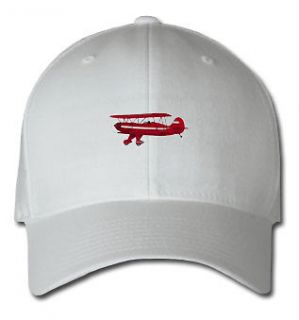 BIPLANE AIRCRAFT SPORTS SPORT EMBROIDERED EMBROIDERY HAT CAP
