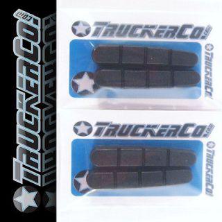 x2 pair Soft Black TruckerCo High Performance Brake Pads hive trp sram