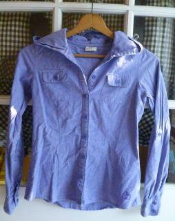 Ezekiel PacSun Tillys Blue Chambray Denim Jean Button Down Shirt
