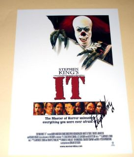 stephen king s it pp signed poster 12 x8 horror