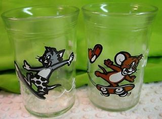 VINTAGE 1990 TOM & JERRY WELCHS GRAPE JELLY GLASSES 8 0ZS