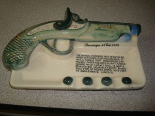 Newly listed CERAMIC ASHTRAY WITH A DERRINGER GUN .41 CAL 1850