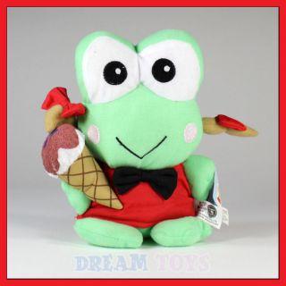 sanrio 8 keroppi girl ice cream plush doll toy frog