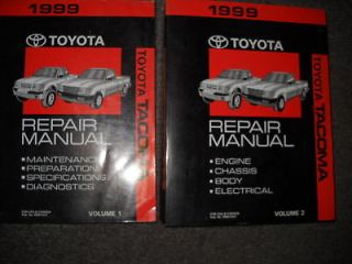 1999 TOYOTA TACOMA TRUCK Service Shop Repair Manual Set OEM 2 VOLUME