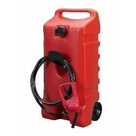 14 gallon portable fuel gas tank caddy transfer pump time
