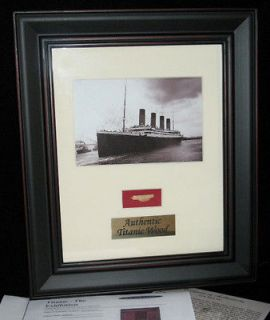 Newly listed Authentic Titanic Wreck Wood Framed Piece   White Star