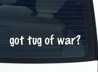 got tug of war? ROPE TUGGING WARS FUNNY DECAL STICKER VINYL WALL CAR