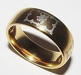 newly listed scottish lion rampant tungsten carbide ring size 12