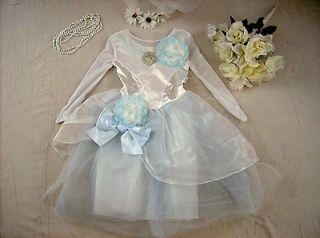 Disney Princess Cinderella Wedding costume girl dress up S 5 6 Deluxe