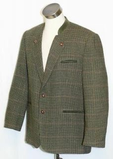 GREEN BROWN BLACK Tweed ~ WOOL Men AUSTRIA Hunting Riding SPORT JACKET